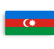 Azerbaijan, national id Canvas Print