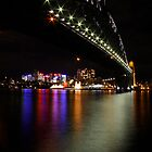Sydney Harbour Bridge Light Show by Paul Moore