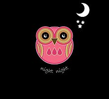 Night Night Pink Owl by Louise Parton