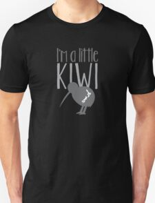 I'm a little kiwi in grey with New Zealand bird Unisex T-Shirt