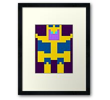 8-Bit Thanos Framed Print