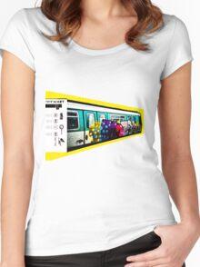 PARIS metro Women's Fitted Scoop T-Shirt