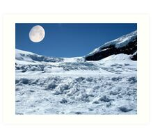 Moonshine on the Columbia Icefields, Alberta. Canada. Art Print