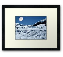 Moonshine on the Columbia Icefields, Alberta. Canada. Framed Print