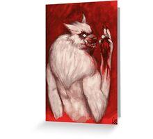 Werwolf Havara / Tasting Prey Greeting Card
