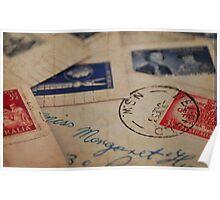 Vintage Letters Poster