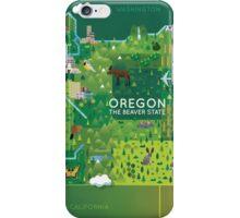 Oregon Map iPhone Case/Skin