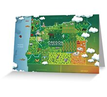 Oregon Map Greeting Card