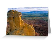Chimney Rock at Ghost Ranch (Medium Format Film Version) Greeting Card