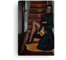 There's a Lady whos sure Canvas Print