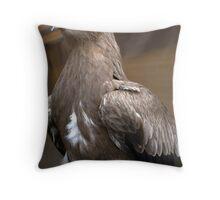 Steppe Eagle Throw Pillow