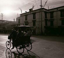 Sunset in Lhasa by dominiquelandau