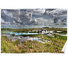Surfing the FLorida Everglades Poster