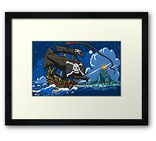 The Pirate's Ship Framed Print