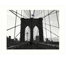 Bridge over troubled water (B&W) Art Print