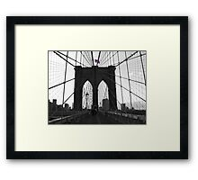 Bridge over troubled water (B&W) Framed Print