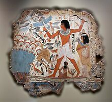 Wall painting from the tomb of Nebamun by paulgranahan