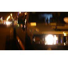 Night lights and Hummer limousine Photographic Print