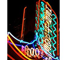 Neon Boot Photographic Print