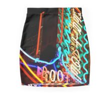 Neon Boot Mini Skirt