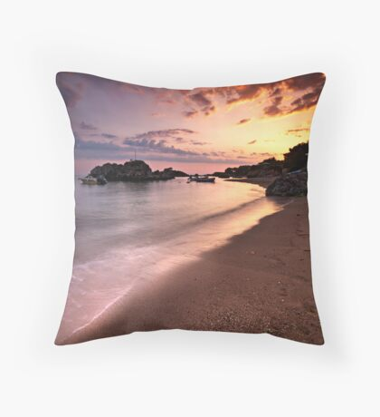The end of the day. Throw Pillow