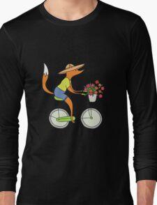 fox on a bike Long Sleeve T-Shirt