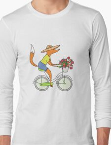 fox on a bike Long Sleeve T-Shirt