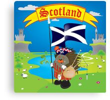Greetings from Scotland Canvas Print