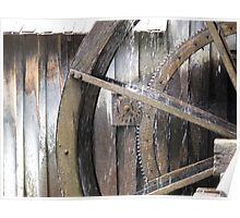 Mabry Mill Gears Poster
