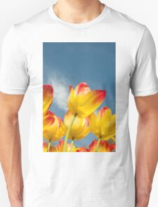 Yellow and Pink Tulips Unisex T-Shirt