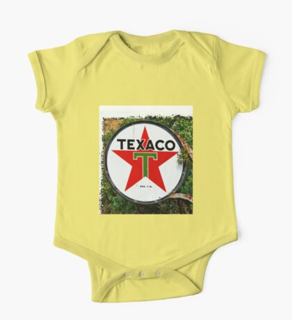 Round Texaco Sign One Piece - Short Sleeve