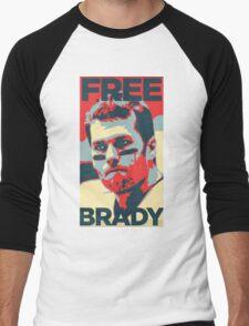 Free Brady Deflate Gate Tom Patriots Men's Baseball ¾ T-Shirt