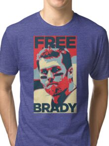 Free Brady Deflate Gate Tom Patriots Tri-blend T-Shirt