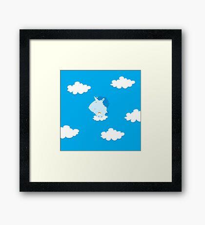 baby unicorn Framed Print