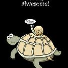 Turtle and Snail Having Fun! by graphicdoodles