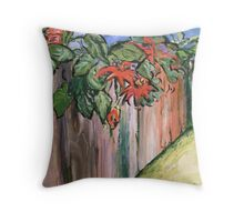 Passion Vine Throw Pillow