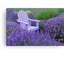 Come and sit among the Lavender Canvas Print