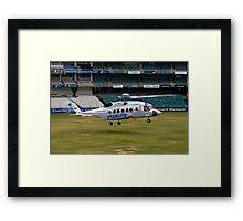 Sikorsky S-92 Landing at The Wanderers Cricket Stadium Framed Print
