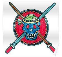 Skull, Pirate, Swords, Crossbones, Captain,  Poster