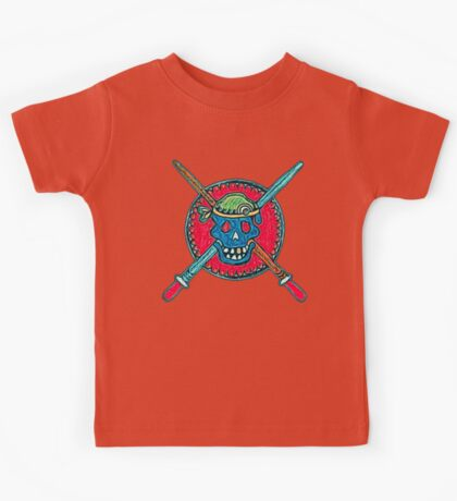Skull, Pirate, Swords, Crossbones, Captain,  Kids Tee