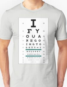Hug Eye Chart T-Shirt
