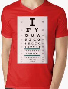 Hug Eye Chart Mens V-Neck T-Shirt