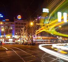 Amsterdam The Netherlands Trams pass through Leidseplein. by stuwdamdorp