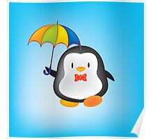 umbrella penguin Poster