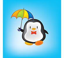 umbrella penguin Photographic Print