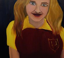 Hermione Wears Her House Colors At School by towncrier