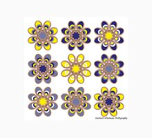 Yellow and Blue Foot Flowers Unisex T-Shirt