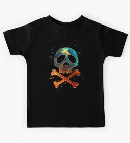 Space Pirate, Skull, Crossbones, Captain, Bone, Anime, Comic Kids Tee