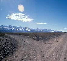 Road, Andes, bicycle, flare by Syd Winer