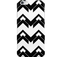 chevron pattern in black and white 03 iPhone Case/Skin